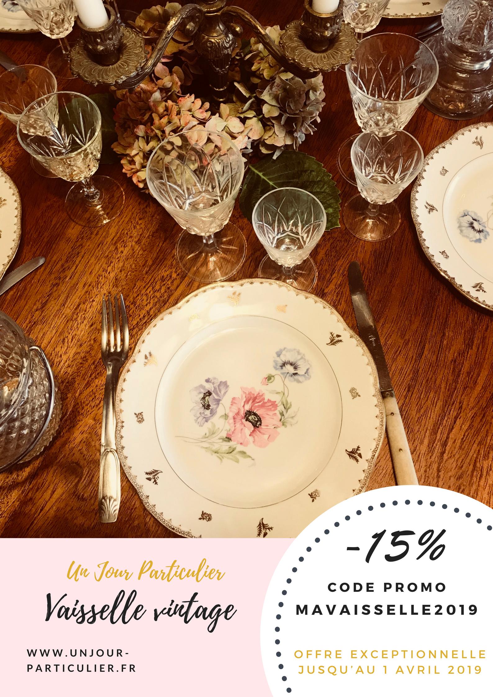 Code de réduction -15% sur la vaisselle